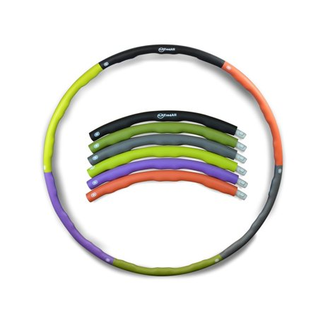 Yes4All 3-Pound Weighted Hula Hoop with 6 Detachable Sections ()