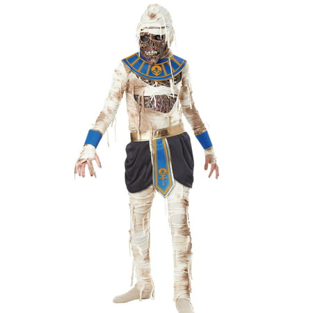 Boys Mummy Pharaoh Egyptian Scary Classic Halloween Costumes L - Mummy Halloween Face