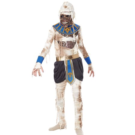 Boys Mummy Pharaoh Egyptian Scary Classic Halloween Costumes - Mummy Cartoon Halloween