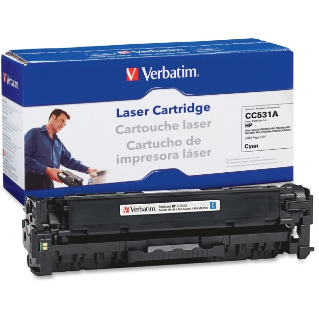 HP CC531A Remanufactured Laser Cartridge Cyan