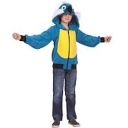 Pepper Parrot Child Hoodie Costume - Blue & Yellow, - Parrott Costume