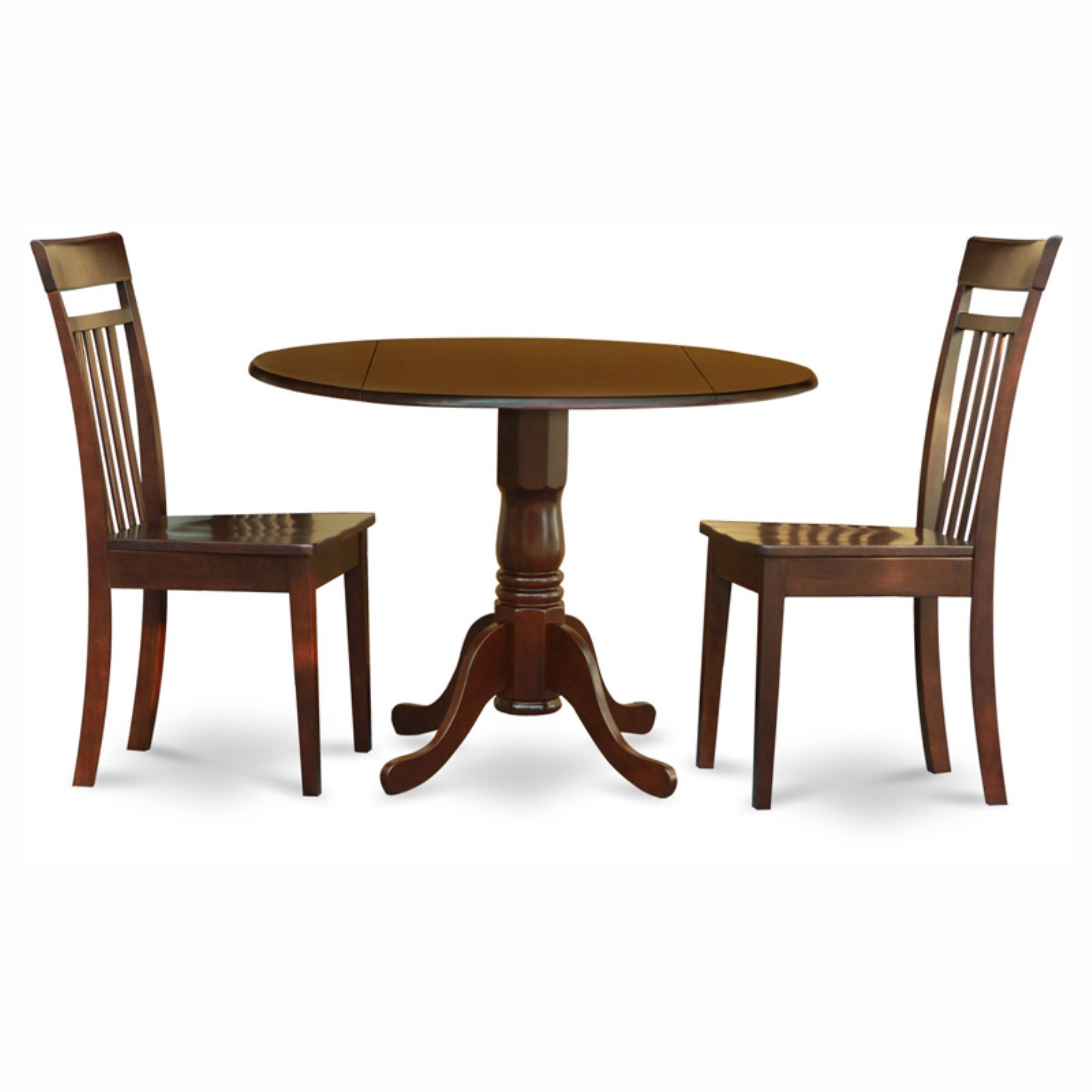 East West Furniture Dublin 3 Piece Drop Leaf Dining Table ...