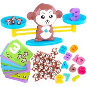 Math Manipulatives Monkey Balance Math Games for Boys & Girls, Fun, Educational Children's Gift & Kids Learning Toys STEM Toys & Games Ages 3+ (64-Piece Set)