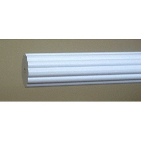 Wood Trends 1 3/8 Inch Fluted Wood Poles (8 Ft, White)