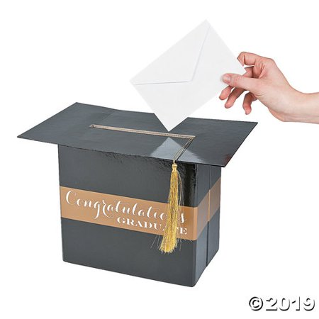 Graduation Card Holder Box (Black & Gold Graduation Card)