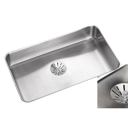 Elkay Lustertone 30.5'' L x 18.5'' W Undermount Single Bowl Kitchen Sink with Perfect Drain and Bottom Grid