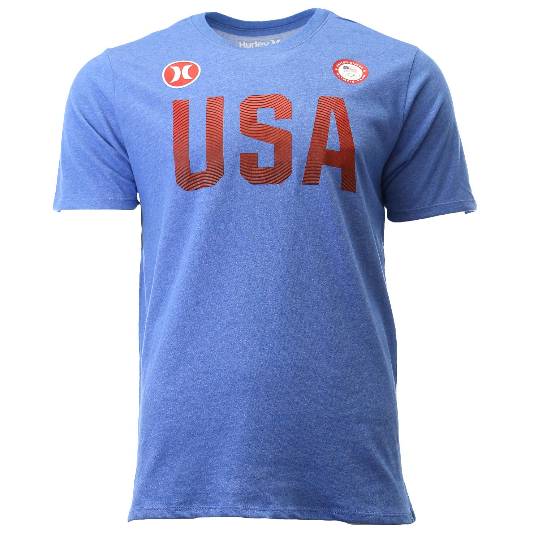 Hurley Dri Fit Premium USA Olympic Team Tee Athletic T Shirt Mens