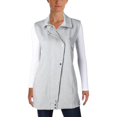 Guess Womens Sleeveless Heathered Outerwear Vest