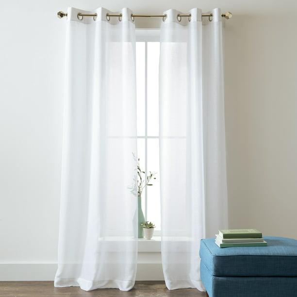 Better Homes And Gardens Metallic, Shimmer Grommet Curtain Panels