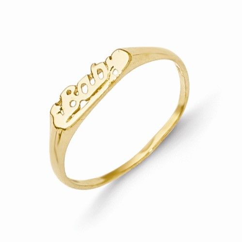 14k Yellow Gold BABY Baby Ring w/ Gift Box