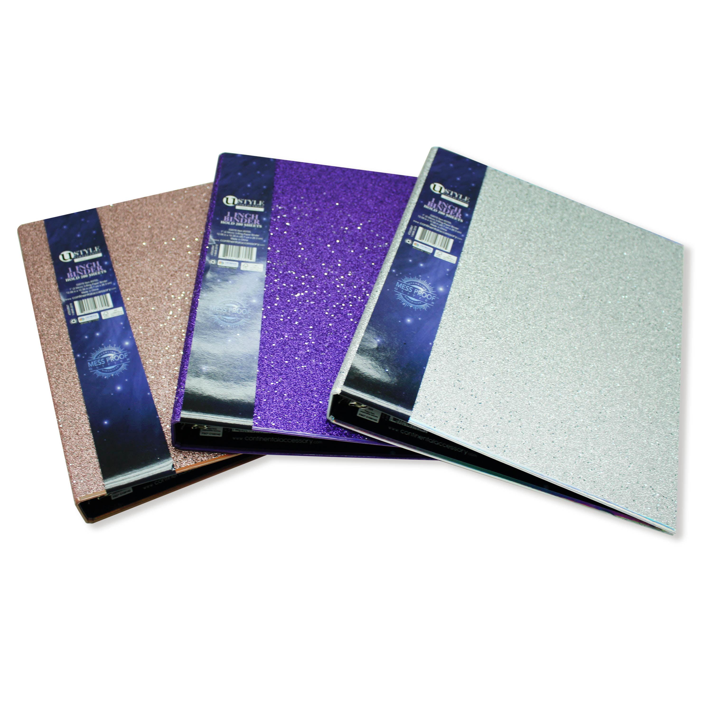 U Style Glitter Galaxy 1 Inch 3-Ring Paper Binder