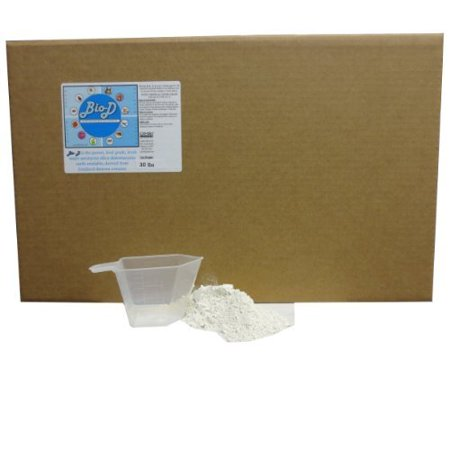 - Ginesis BioD Diatomaceous Earth, Food Grade, OMRI Listed. Free Measuring Cup, Box Package (30Lbs Box)