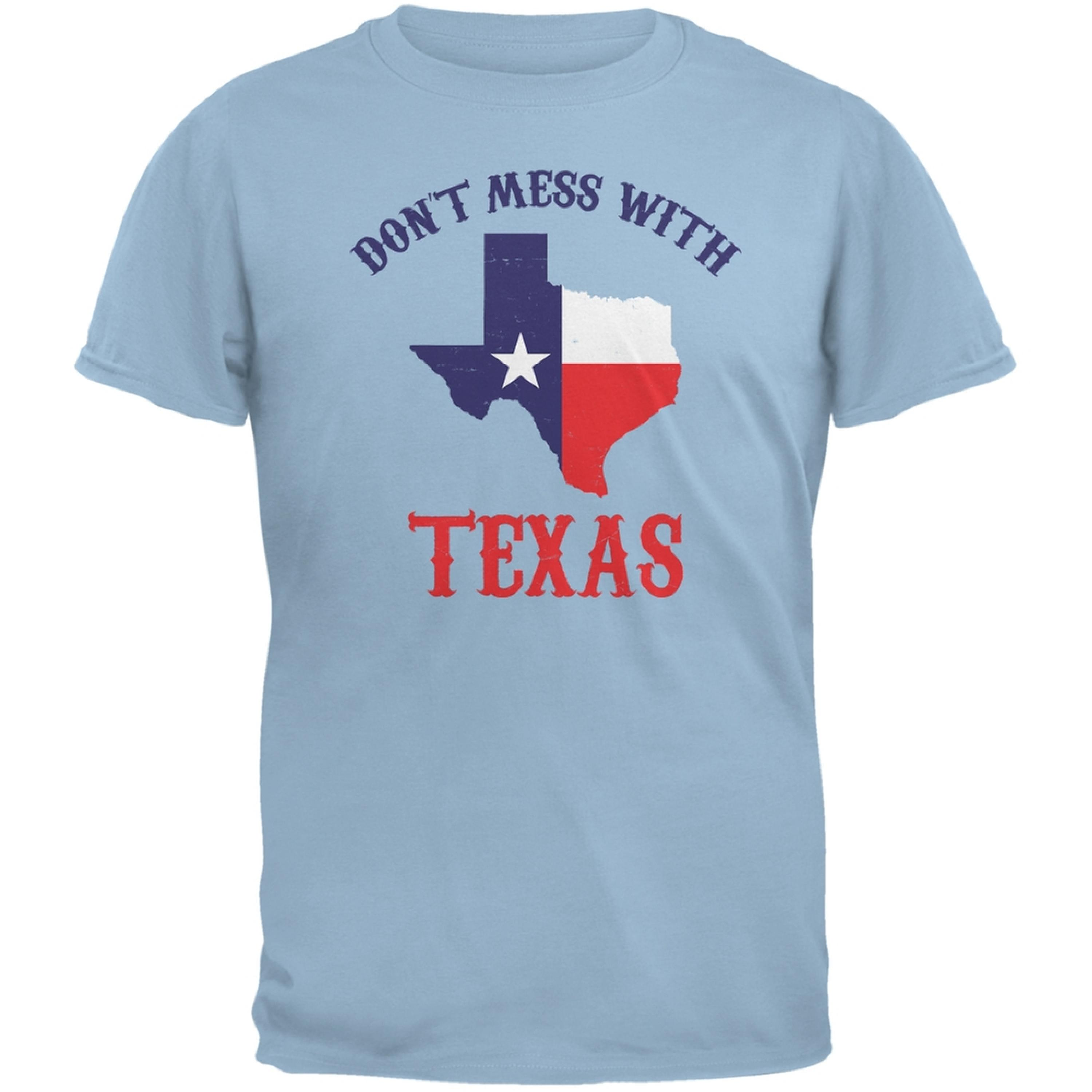 Don't Mess With Texas Light Blue Adult T-Shirt