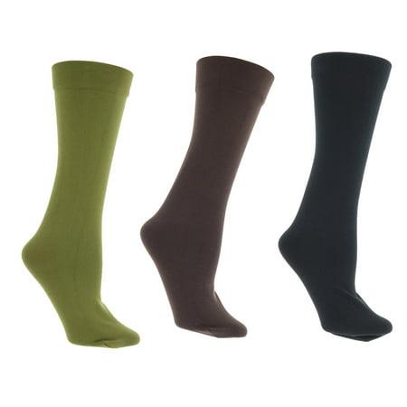 Gold Medal Women's Fleece Lined Knee High Socks (3Pr), One Size