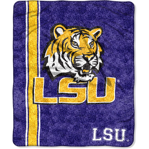 "NCAA 50"" x 60"" Sherpa Throw, LSU"