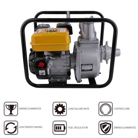 Professional 7Hp Gas Water Pump Semi Trash Aluminum Pump 3 Inch Inlet Outlet Npt Pool Gasoline Engine Water Pump