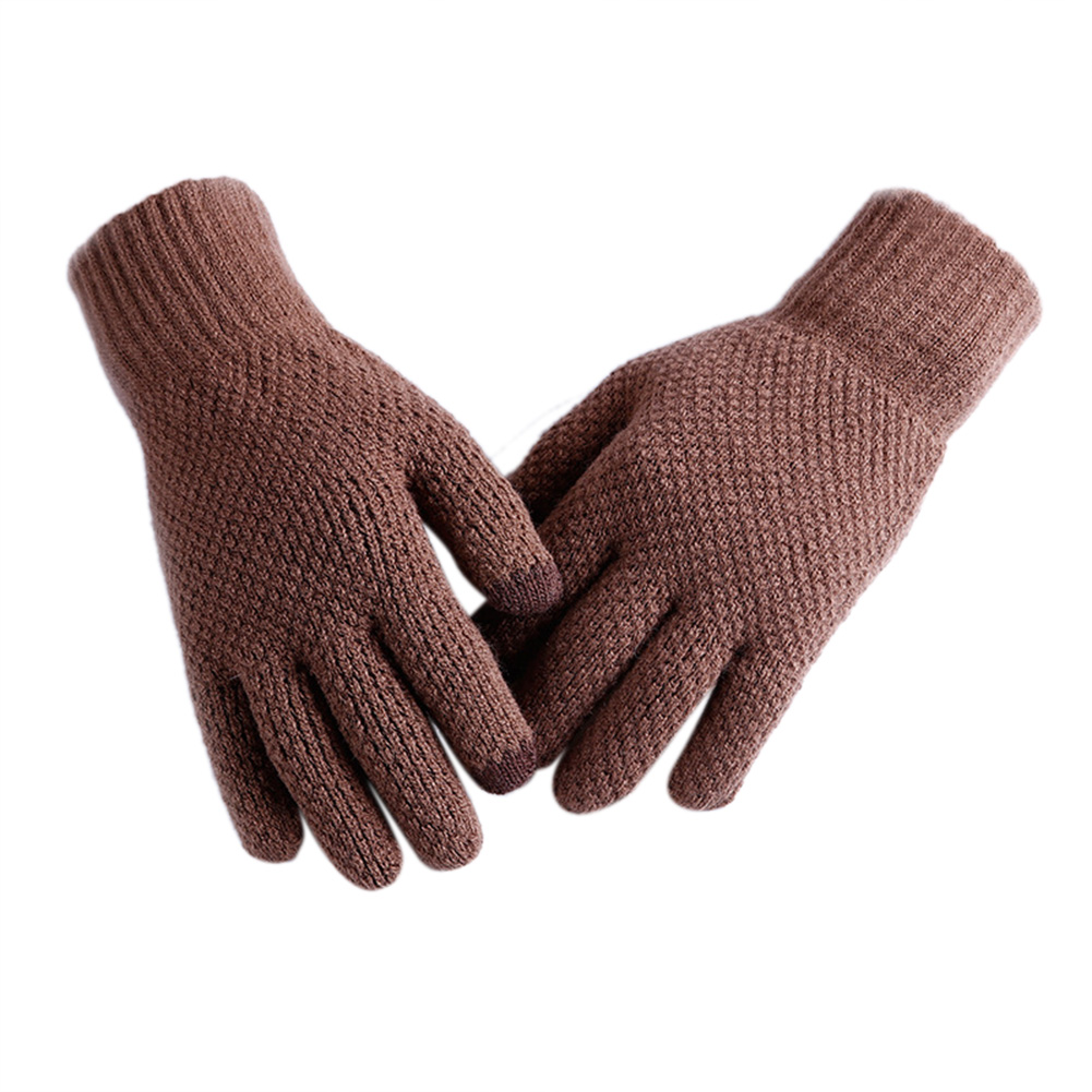 Mens Winter Warm Universal Smart Magic Touch Screen Knitted Gloves Texting Gloves Mittens Ten Fingers