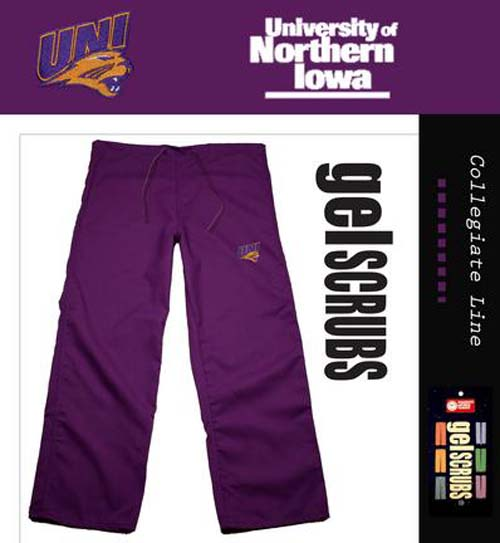 Northern Iowa Panthers Scrub Style Pant from GelScrubs - Purple - Medium