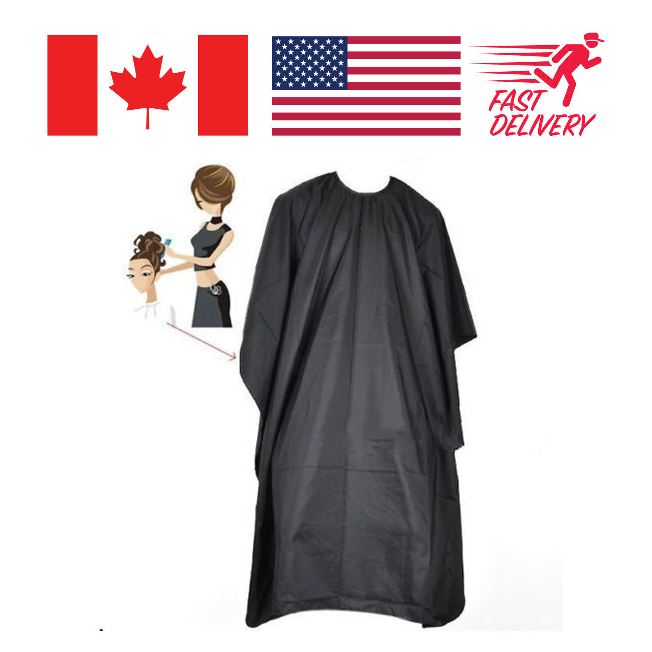 Salon Hair Cutting Nylon Cape Barber Hairdressing Professional