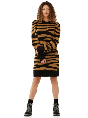 Scoop Women's Printed Sweater Dress