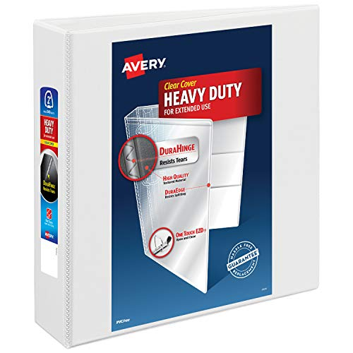 """Avery 2"""" Heavy Duty View 3 Ring Binder, One Touch EZD Ring"""