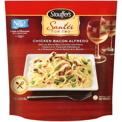 Stouffer's Sautes For Two Chicken Bacon Alfredo Entree, 24 oz