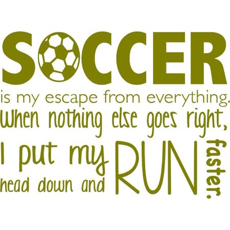 Soccer Wall Lettering Vinyl Decal Sticker Decoration 20 x16 V4