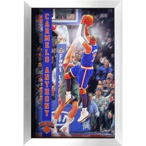 Carmelo Anthony New York Knicks 3D Pop Out Framed Collage