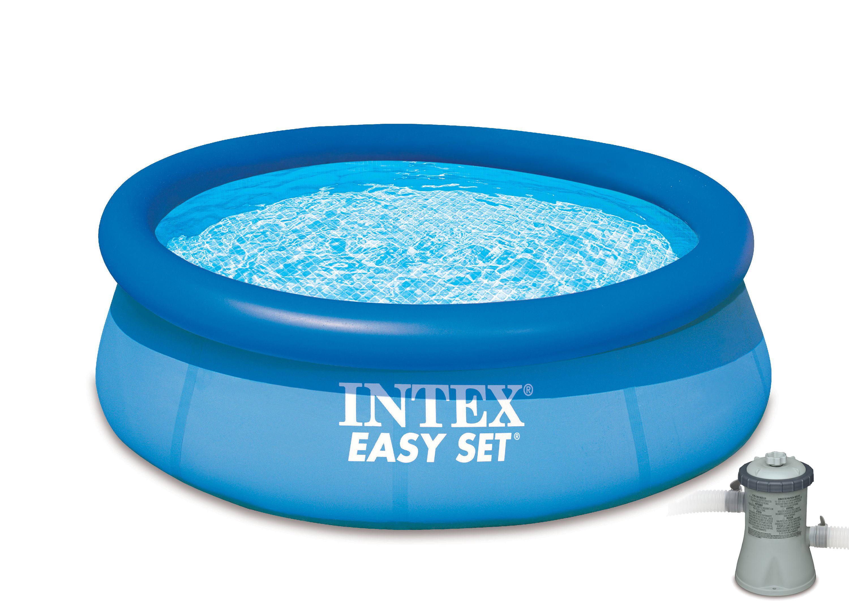 intex easy set pool. Intex 15\u0027 X 33\u0027\u0027 Easy Set Above Ground Swimming Pool With Filter Pump - Walmart.com