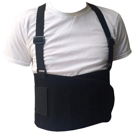 Black Belt Back Support Waist Brace Lift Heavy Weight Comfort (Best Back Brace For Heavy Lifting)