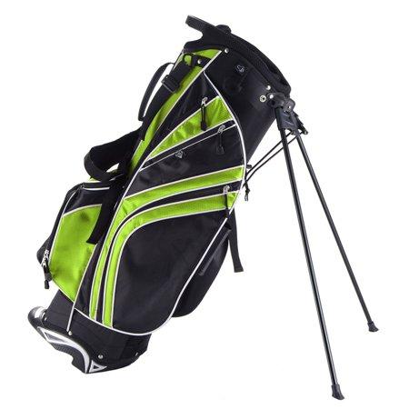 Costway Golf Stand Cart Bag Club w/6 Way Divider Carry Organizer Pockets Storage