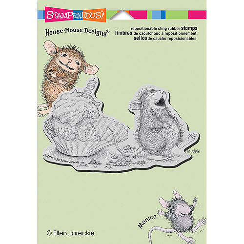 "Stampendous House Mouse Cling Stamp 5.5""X4.5"" -Cupcake Belly"
