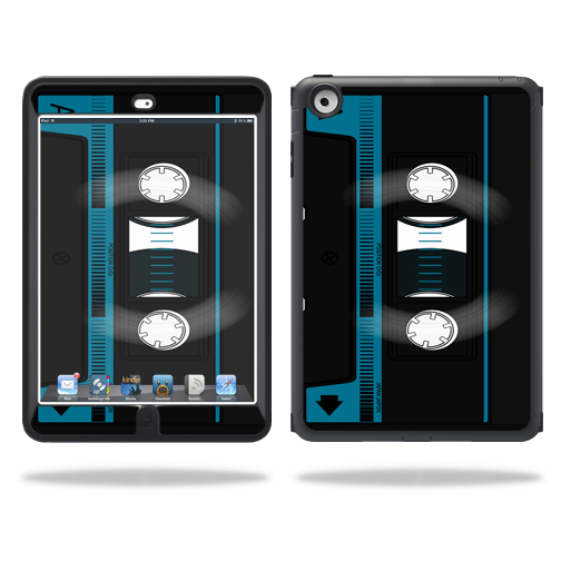 Mightyskins Protective Skin Decal Cover for OtterBox Defender iPad Mini Case wrap sticker skins Cassette Tape