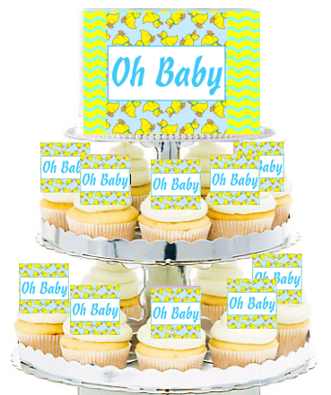 Baby Duck Edible Photo Toppers & Edible Cupcake Decoration Kit by