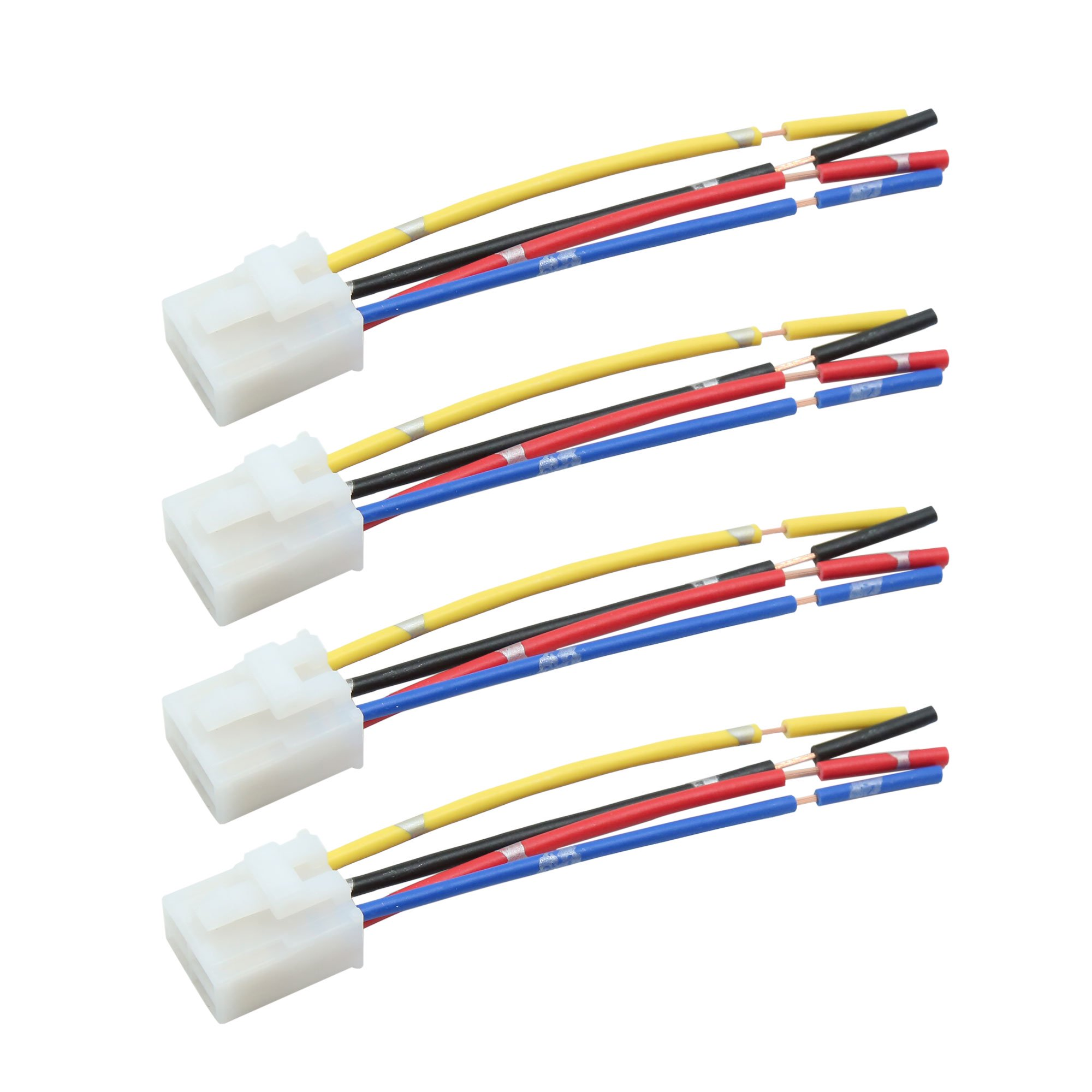 4pcs 4 Terminals Wiring Harness Relay Socket Connector DC ... Dc Wiring Terminal Relay on