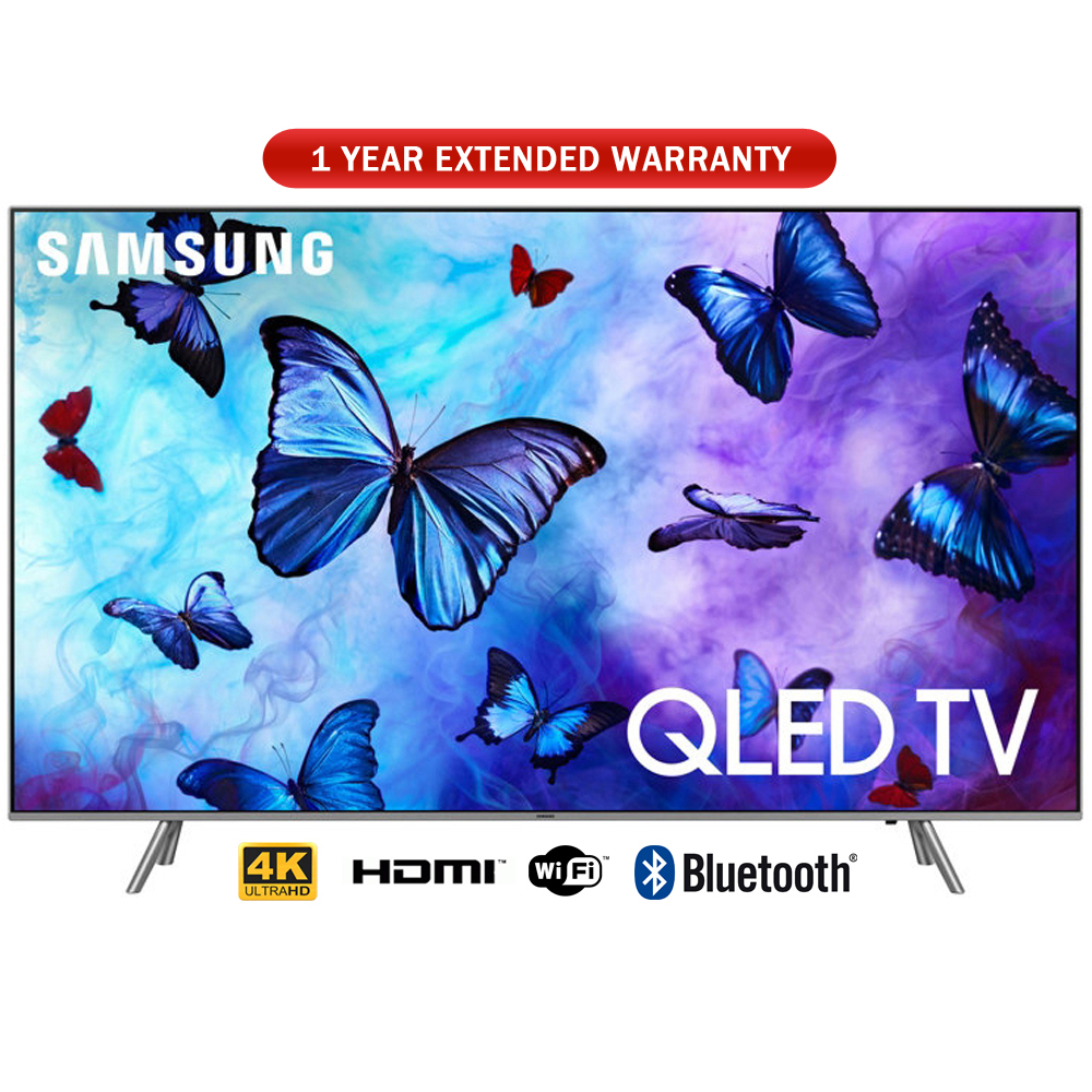 "Samsung 55"" Class 4K (2160P) Ultra HD Smart QLED TV 2018 Model with 1 Year Extended Warranty"