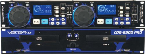 VocoPro CDG8900PRO Dual CD CD+G Player DSP Pitch by VocoPro
