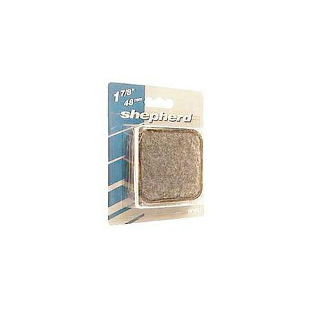 "Shepherd 9080 1-7/8"" Square Metal Carpet Base Caster Cups, 4 Count"