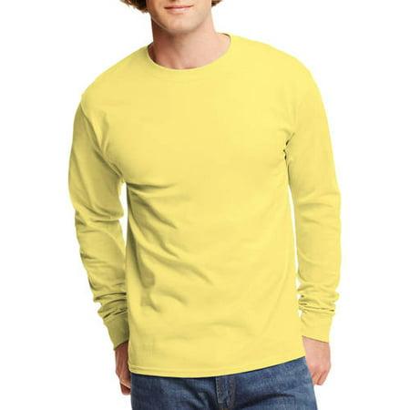 Hanes Mens Tagless Cotton Crew Neck Long-Sleeve Tshirt - Walmart.com