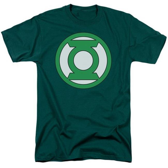Green Lantern-Lantern Logo Short Sleeve Adult 18-1 Tee, Hunter Green - Large