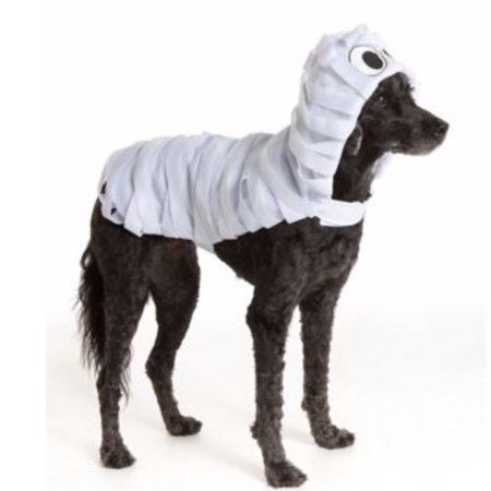 Pet Halloween White Mummy Monster Wrapped Pet Costume Medium Dog Puppy Clothing, Dress your dog up as a (not so) terrifying Mummy in this Thrills &.., By Thrills Chills Ship from US - Halloween Food Mummy Dogs