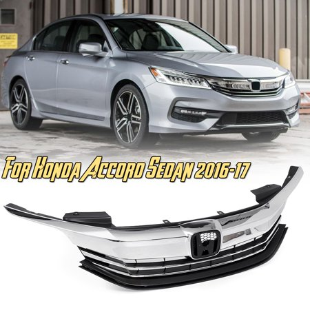 For 2016 2017 Honda Accord Sedan 4d Front Per Grille Upper Top Grill Y