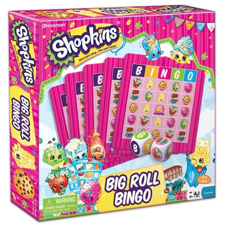 New 506665  Pressman Shopkins Big Roll Bingo (6-Pack) Cheap Wholesale Discount Bulk Toys Belly (Adult Toys Wholesale)