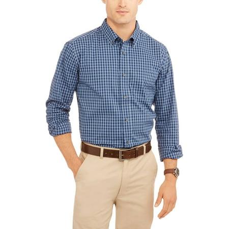 George Mens Long Sleeve Wrinkle Resistant Poplin Shirt