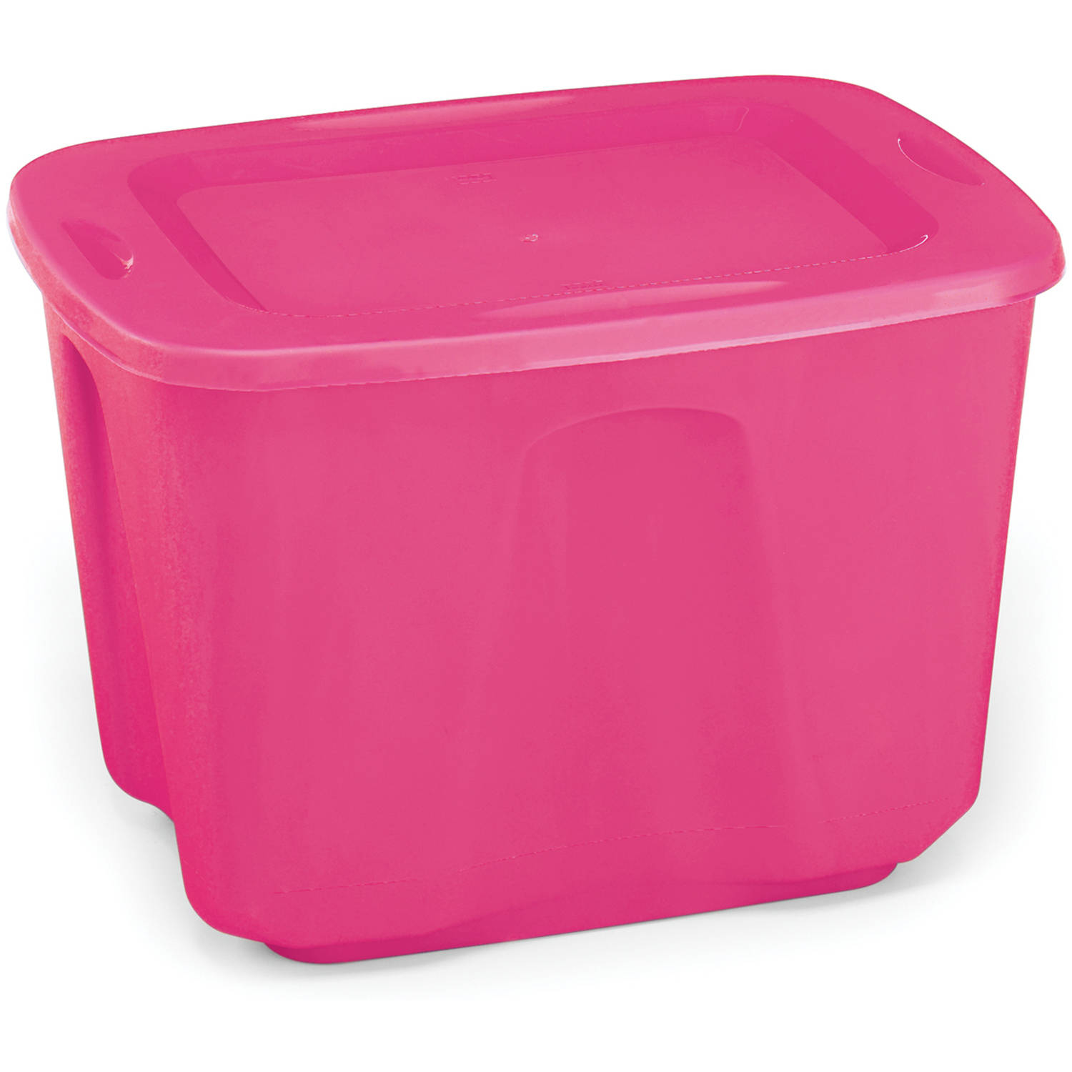 Homz Storage Tote 18-Gallon, Set of 8 - Multiple Colors
