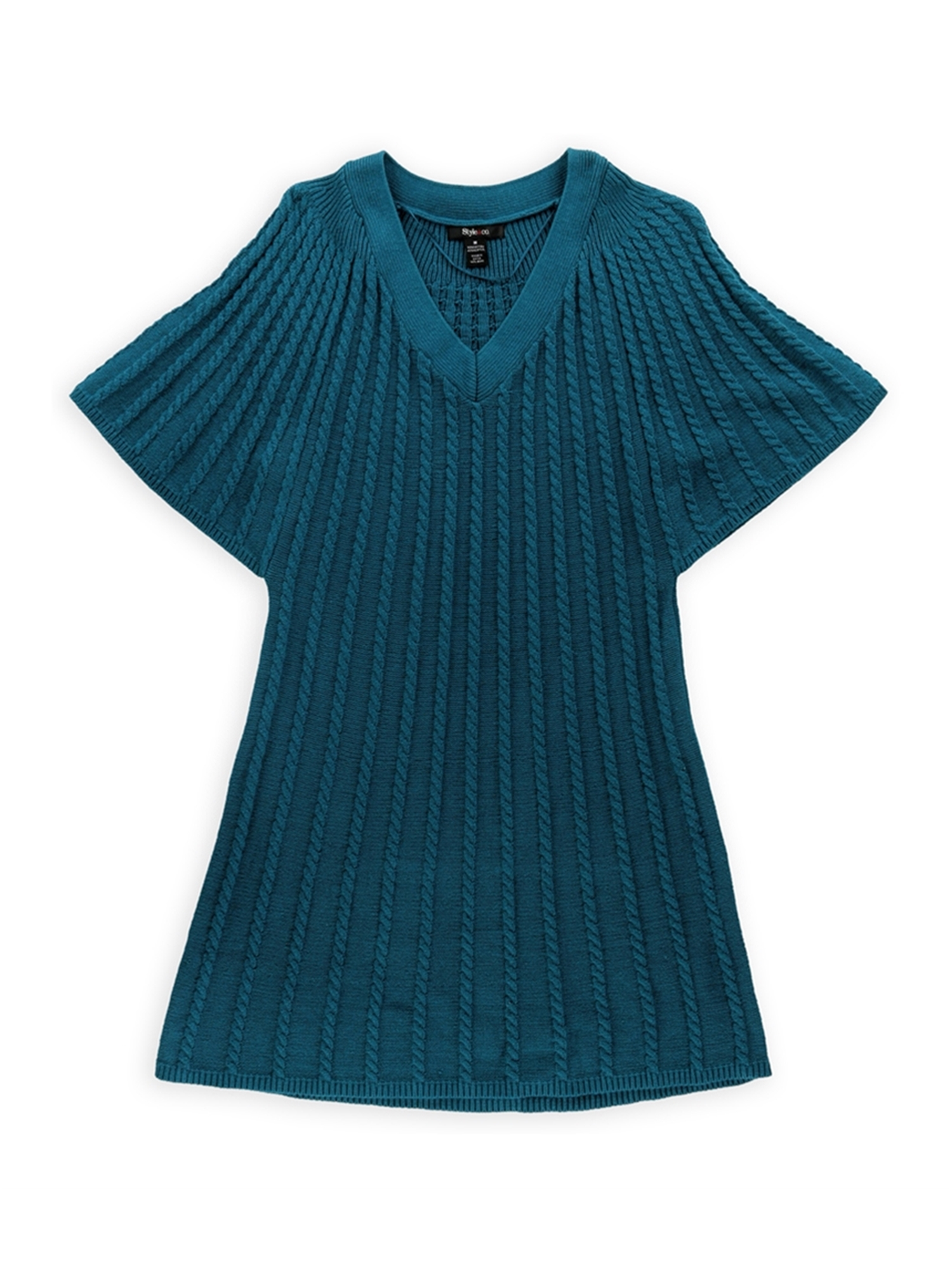 a73a0f3140 Style co. Womens Cable Knit Sweater Vest frenchteal M