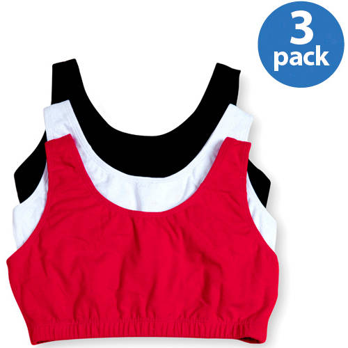 Fruit of the Loom Women's Tank Style Sport Bra, Style 9012, 3-Pack