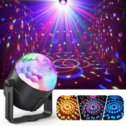 Party Lights,Disco Lights Sound Activated with Remote,Disco Ball Light,Stage lights-Multi Colors Rotating Magic LED Strobe Lights for Xmas Parties,Room,Pool,Club,Home,Church,Karaoke,Wedding