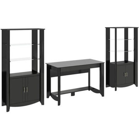 Fusion Library Desk (Bush Furniture Aero Collection Modern 47