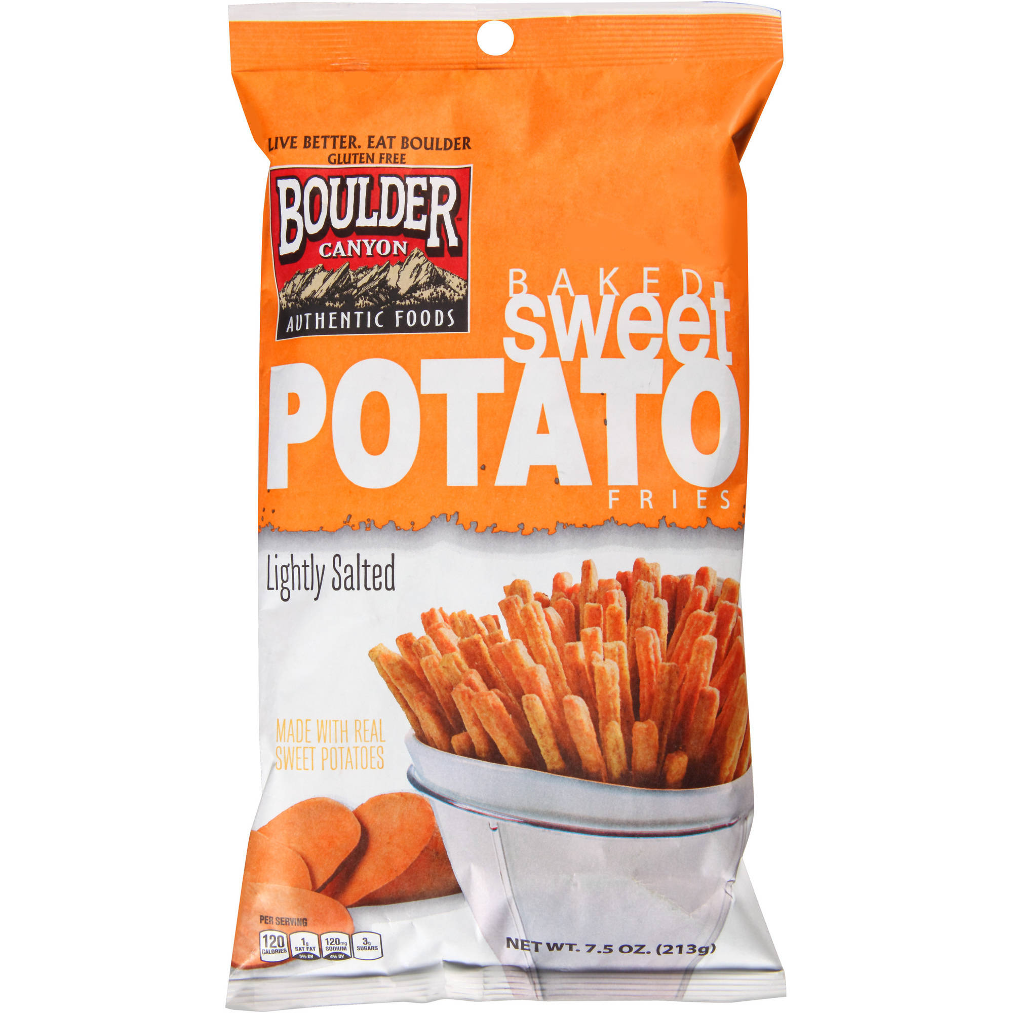 Boulder Canyon Natural Foods Lightly Salted Baked Sweet Potato Fries, 7.5 oz by inventure foods